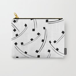 Black dot line pattern Carry-All Pouch