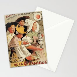 French belle epoque pottery expo advertising Stationery Cards