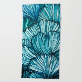 Blue Coral Beach Towel