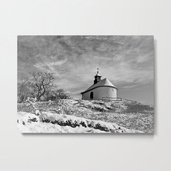 Chapel in the snow (Kleine Kalmit) Metal Print