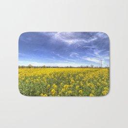 Yellow Fields Of Summer Bath Mat