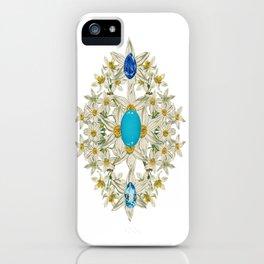 Birth Stone & Flower Print/DECEMBER iPhone Case