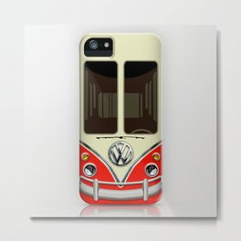 Special Gift for Summer Holiday Red minivan minibus iPhone 4 4s 5 5c 6, pillow case and mugs Metal Print