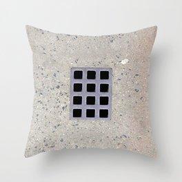 Bauhaus Drain Throw Pillow
