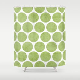 green polka dots Shower Curtain