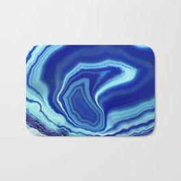 Blue colored agate Bath Mat