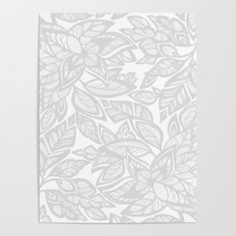 Let Love Grow - gray/white Poster
