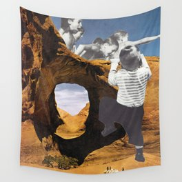 Desert Swimming Hole (Collage) Wall Tapestry