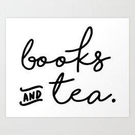 Books and Tea Art Print