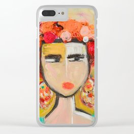 Frida Kahlo series Clear iPhone Case