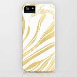 Bronze Copper Gold Rush Marble Ink Swirl iPhone Case