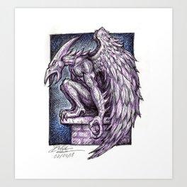 Grimshaw Gargoyle Art Print