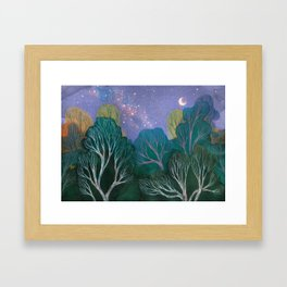 Starlit Woods Framed Art Print