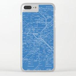 Paris Metro Map - Blue Clear iPhone Case