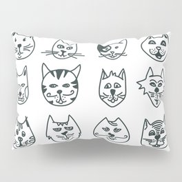 Cats - Who let the dog in? Pillow Sham