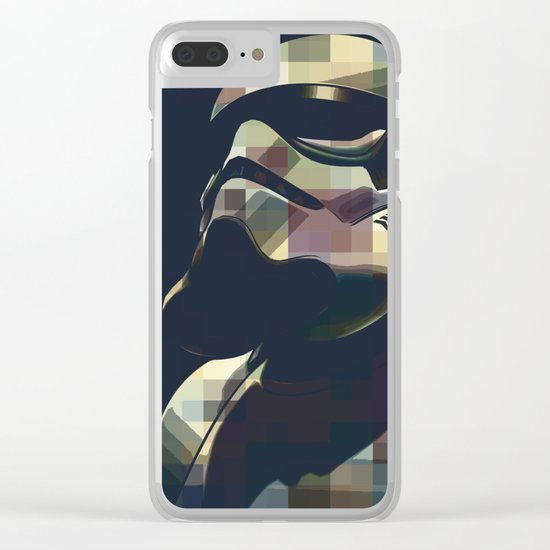 Star War | Storm Trooper Color Square * Movies Inspiration Clear iPhone Case