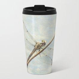Libellule -- Dragonfly Seems Curious Travel Mug