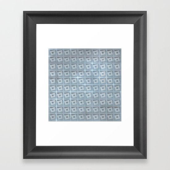 pattern (blue#1) Framed Art Print