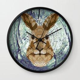 Ornate Hare Wall Clock