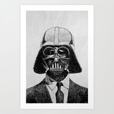 Darth Vader portrait Art Print