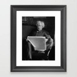 Mark Twain - American Author and Humorist Framed Art Print