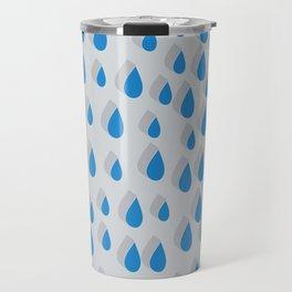 3D Water Drops Travel Mug