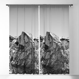Half Dome Black and White Blackout Curtain