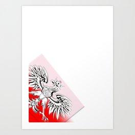 Polish Flag  Art Print