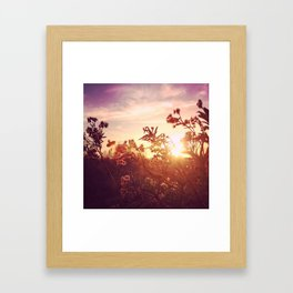 Riverside Weeds - Square Framed Art Print