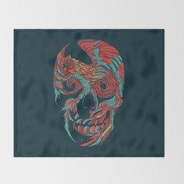 Rooster Skull Throw Blanket