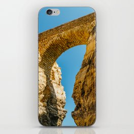 Stone Bridge Over Rock Formations In Lagos, Wall Art Print, Landscape Art, Poster Decor, Large Print iPhone Skin
