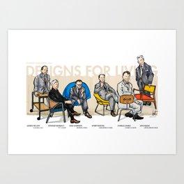Mad men of modern design Art Print