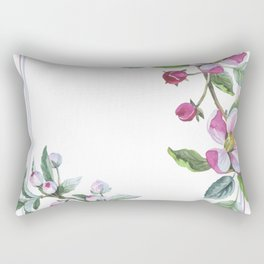 Apple Blossom Frame 01 Rectangular Pillow