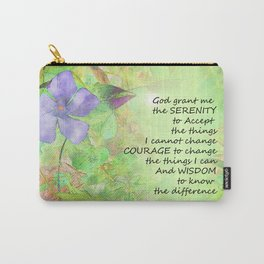 Serenity Prayer Vinca Glow Carry-All Pouch