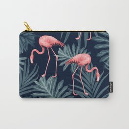 Summer Flamingo Jungle Night Vibes #1 #tropical #decor #art #society6 Carry-All Pouch