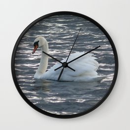 MUTE SWAN, LOUGH ERNE Wall Clock