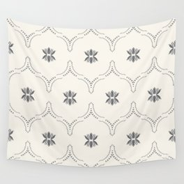 WILDFLOWER JASMIN GREY Wall Tapestry