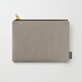 Sherwin Williams Trending Colors of 2019 Moth Wing (Light Brown / Taupe) SW 9174 Solid Color Carry-All Pouch