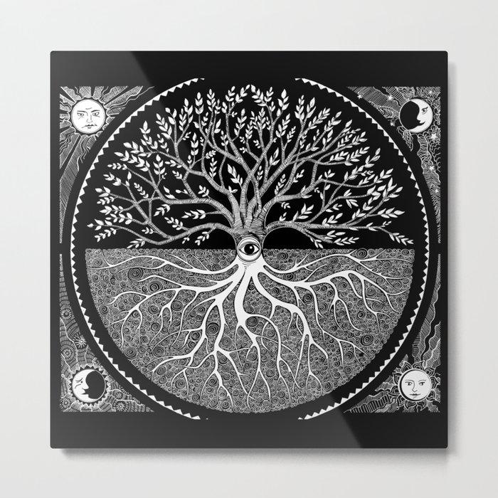 Druid Tree of Life Metal Print - Square Metal Wall Art