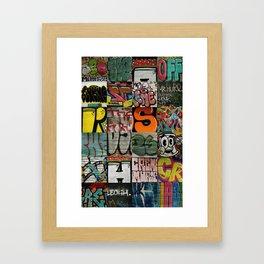 grafitti collage Framed Art Print