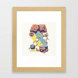 Sushi Sentai Framed Art Print
