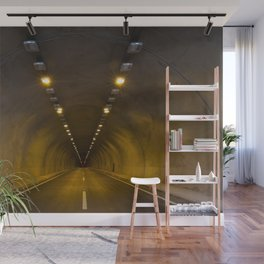 Funneling Tunnel with One Way to go. Wall Mural