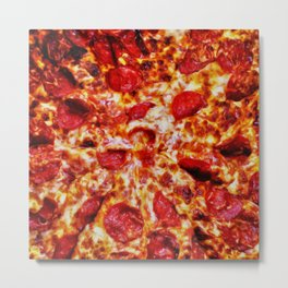 Pizza Painting Metal Print