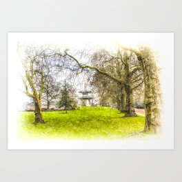 The Pagoda Battersea Park London Art Art Print