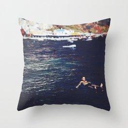 swim for your life Throw Pillow