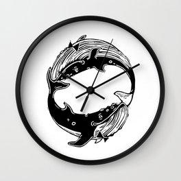 Having Fun (Whales) Wall Clock