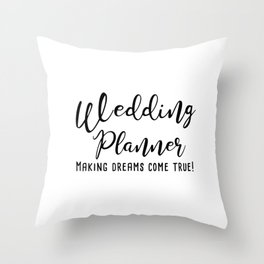 Wedding Planner Throw Pillow