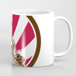 American Female Organic Farmer USA Flag Icon Coffee Mug