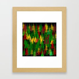 autumn fir forest Framed Art Print