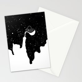 Space Paint Milky Way Cat Stationery Cards